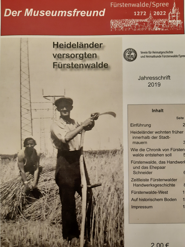 Das Titelbild der Zeitschrift der Museumsfreund