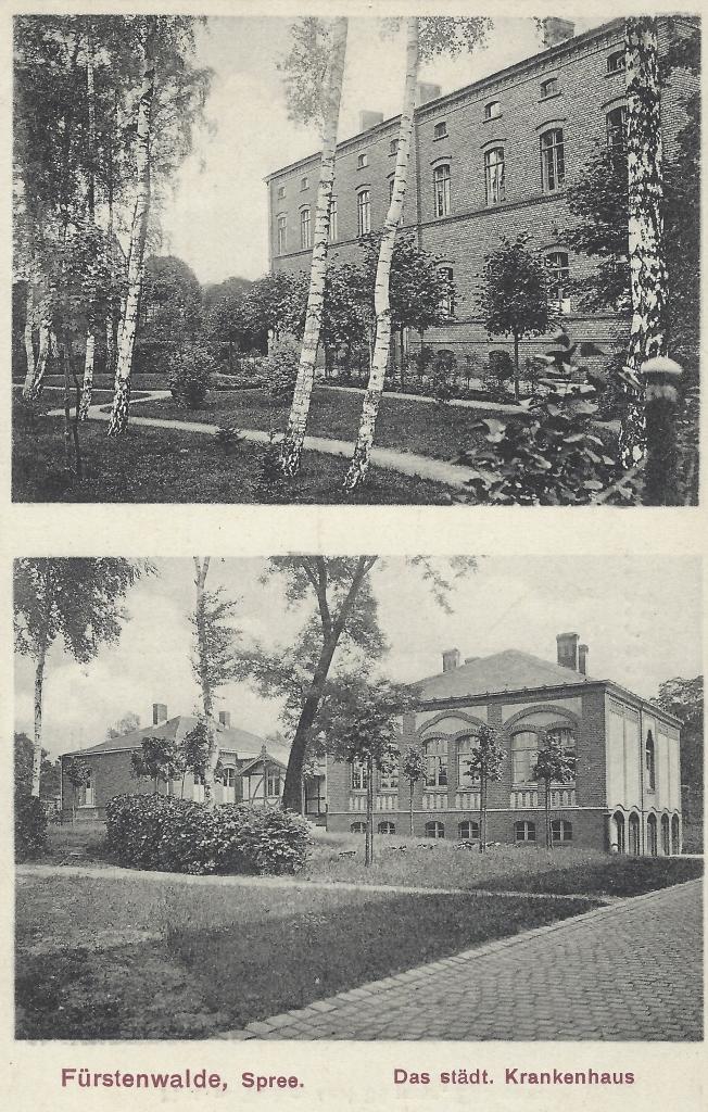 Das städtische Krankenhaus zu Fürstenwalde