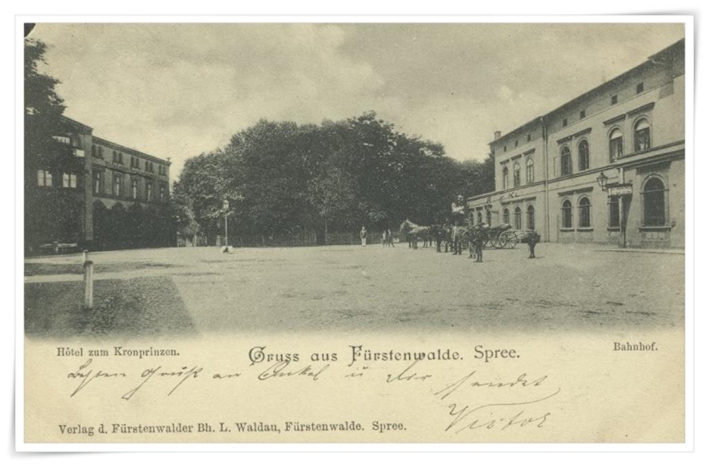 Der Bahnhof zu Fürstenwalde im Jahr 1899