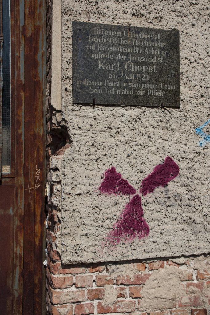 Gedenktafel für Karl Cheret