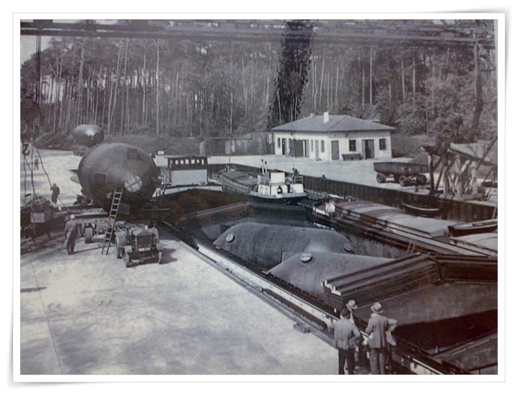 Pintsch-Hafen wird in Betrieb genommen